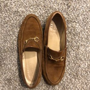Gucci Shoes - Gucci Horsebit Suede Loafers
